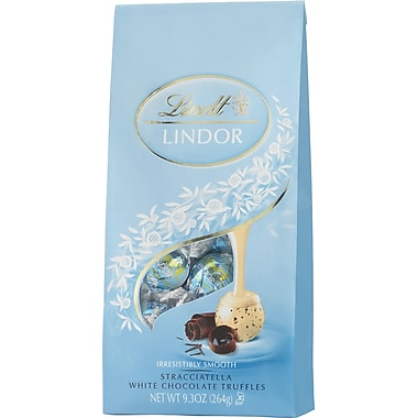 Lindt LINDOR Chocolate Truffles Bag, Stracciatella White Chocolate, 9.3 oz.