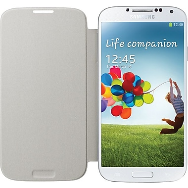 Samsung Galaxy S4 Flip Cover Folio Case, White