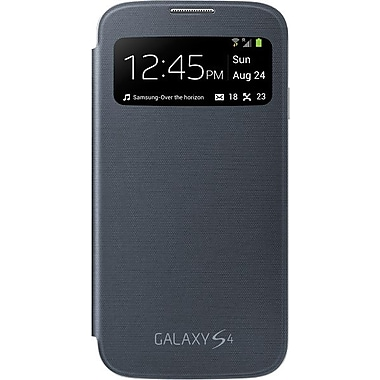 Samsung Galaxy S4 S-View Flip Cover Folio Case, Black