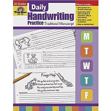 Evan-Moor® Daily Traditional Manuscript Handwriting Practice Book