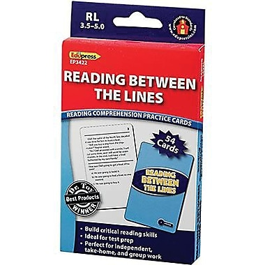 Edupress® Reading Comprehension Practice Card, Reading Between The Lines