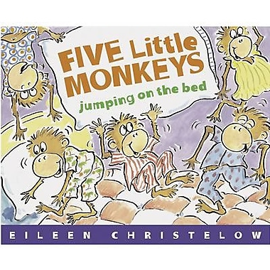 American Heritage Five Little Monkeys Jumping On The Bed Book By Eileen Christelow, Grades P - 12th