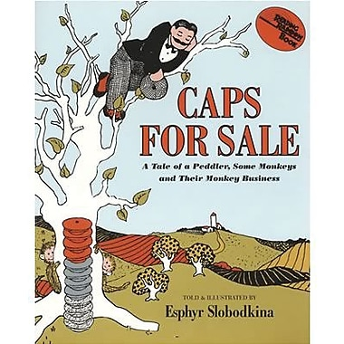 Harper Collins Caps For Sale Book By Esphyr Slobodkina, Grades Pre School - 2nd