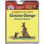 American Heritage Curious George Feeds The Animals Carry Along Book & CD Set By Hans Rey, Grades P-K