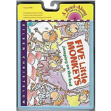 American Heritage Five Little Monkeys Jumping On The Bed Carry Along Book and CD Set, Grades P - 3rd