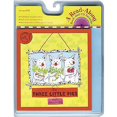 American Heritage Three Little Pigs Carry Along Book and CD Set By Paul Galdone, Grades K-3rd