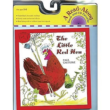 American Heritage The Little Red Hen Carry Along Book and CD Set By Paul Galdone, Grades K-3rd