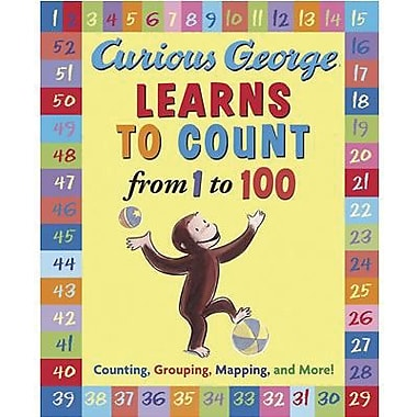 American Heritage Curious George Learns To Count From 1 To 100 Book By Hans Rey, Grades P - K