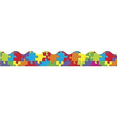 Trend Enterprises® pre-kindergarten - 9th Grades Scalloped Terrific Trimmer, Jigsaw