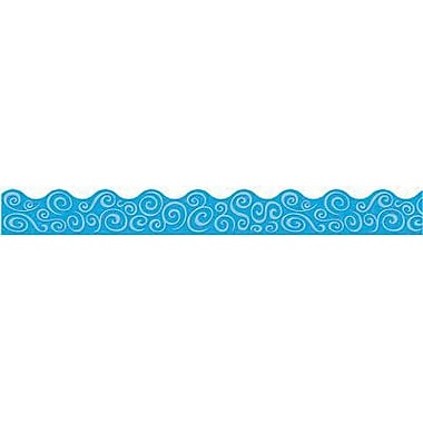 Trend Enterprises® Pre-kindergarten - 9th Grades Scalloped Terrific Trimmer, Blue Swirls