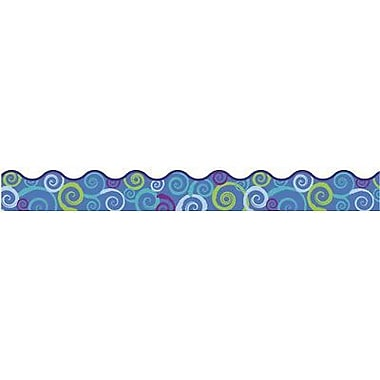 Trend Enterprises® pre-kindergarten - 9th Grades Scalloped Terrific Trimmer, Cool Swirls