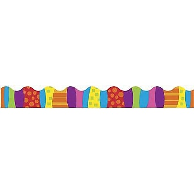 Trend Enterprises® pre-kindergarten - 9th Grades Scalloped Terrific Trimmer, Pizzazz Stripes