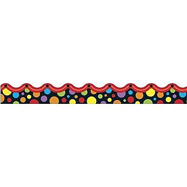 Trend Enterprises® Pre-kindergarten - 9th Grades Scalloped Terrific Trimmer, Neon Dots