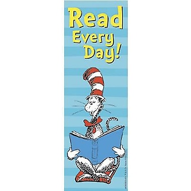 Eureka® Cat In The Hat™ Read Every Day Bookmark, Grades pre-school - 6th