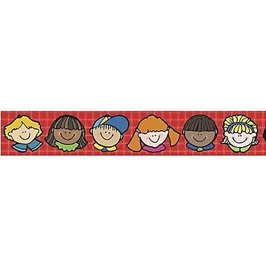 DJ Inkers® pre-school - 8th Grades Straight Bulletin Board Border, Happy Faces