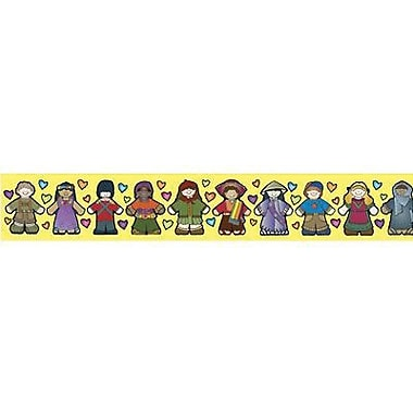 DJ Inkers® pre-school - 8th Grades Straight Bulletin Board Border, Kid's Around The World