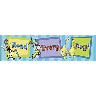 Eureka® Dr. Seuss™ Pre School - 6th Grades Banner, Read Every Day
