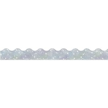 Trend Enterprises® pre-kindergarten - 9th Grades Scalloped Terrific Trimmer, Silver Sparkle