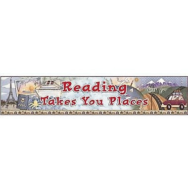 Teacher Created Resources® pre-school - 6th Grades Horizontal Banner, Reading Takes You Places