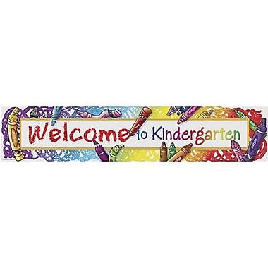 Teacher Created Resources® Kindergarten Horizontal Banner, Welcome To Kindergarten