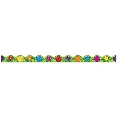 Teacher's Friend® pre-kindergarten - 6th Grades Scalloped Bulletin Board Trim, Jungle Flowers