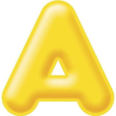 Trend Enterprises® 3D Casual Ready Letter, 4in., Yellow