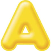 "Trend Enterprises® 3D Casual Ready Letter, 4"", Yellow"