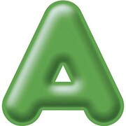 Trend Enterprises® 3D Casual Ready Letter, 4, Green
