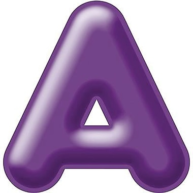 Trend Enterprises® 3D Casual Ready Letter, 4in., Purple