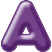 "Trend Enterprises® 3D Casual Ready Letter, 4"", Purple"