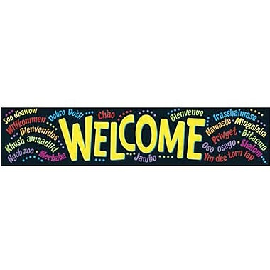 Trend Enterprises® pre-kindergarten - 9th Grades Quotable Expressions Banner, Welcome Multilingual