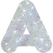 "Trend Enterprises® Casual Sparkles Ready Uppercase Letter, 4"", Silver"