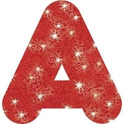 "Trend Enterprises® Casual Sparkles Plus Ready Uppercase Letter, 4"", Red"
