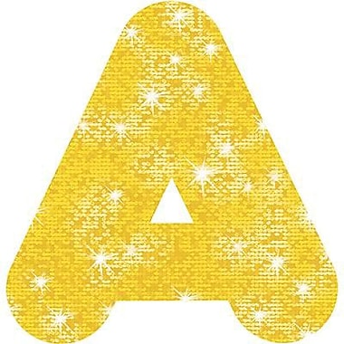 Trend Enterprises® Casual Sparkles Ready Uppercase Letter, 4in., Yellow