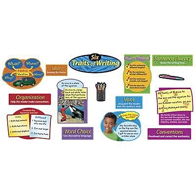 Trend Enterprises® Bulletin Board Set, Six Traits of Writing