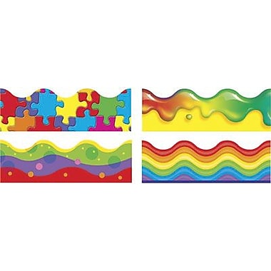 Trend Enterprises® pre-kindergarten - 9th Grades Scalloped Terrific Trimmer, Color Blast