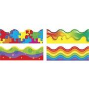 Trend Enterprises® pre-kindergarten - 9th Grades Scalloped Terrific Trimmer, Color Blast