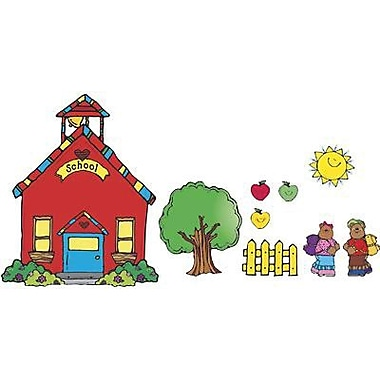 DJ Inkers® Bulletin Board Set, School House