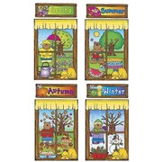 DJ Inkers® Bulletin Board Set, Four Seasons