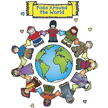 DJ Inkers® Bulletin Board Set, Kid's Around The World