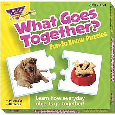 Trend Enterprises® Fun-to-Know Puzzle, What Goes Together?