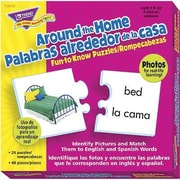 Trend Enterprises® Fun-to-Know Puzzle, Around The Home Picture Words/Palabras (ENG/SP)