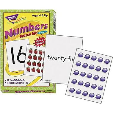 Trend Enterprises® Numbers 0 - 25 Match Me Card