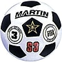 Martin Sports® Soccer Ball, Black and White, Size