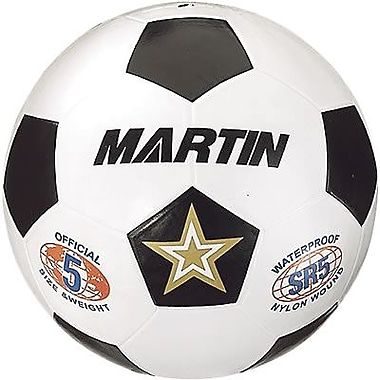Martin Sports® Soccer Ball, Black and White, Size 5