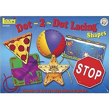 Lauri® Toys Lacing Shapes Card