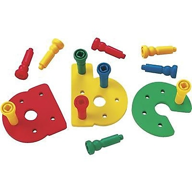 Lauri® Toys Tall Stacker Pegs A - Z Pegboard Set, Lowercase