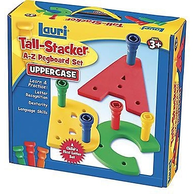 Lauri® Toys Tall Stacker Pegs A - Z Pegboard Set, Uppercase