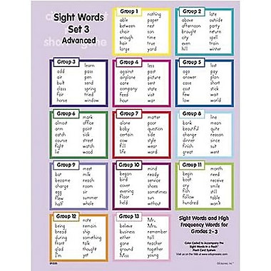 Edupress® Sight Words In A Flash™ Wall Charts, Grades 2nd - 3rd