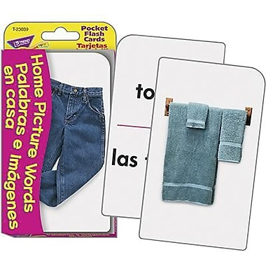 Trend Enterprises® Pocket Flash Card, Home Picture Words